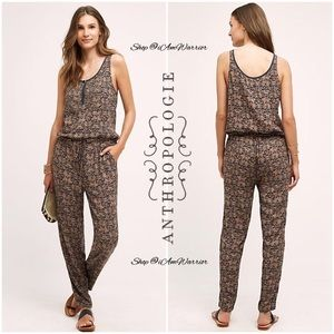Anthropologie {Tiny} beaded high waisted jumpsuit